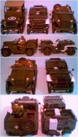 Jeep (Italeri) x Ford GP (Revell) x Gaz 67 (Tamiya)