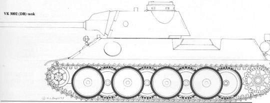 Modelo Inicial VK3200 da Daimler-Benz